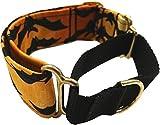 Dogcrafts Halloween Martingale Hundehalsband, Fledermäuse, 40-25 mm, Messing