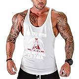 BodyGo Homme Musculation Débardeur sans Manche Maillot de Corps Tank Top Fitness Gym Stringer Stretch T-Shirt