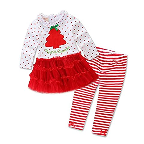 Babykleidung,GUT® Christmas 2pcs Kleinkind Baby Junge Mädchen Kleidung Set Hoodie Tops + Pants Outfits (6-12Monate,