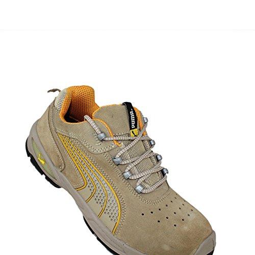 Puma sicherheitsschuh s1P sRC chaussures de travail chaussures chaussures berufsschuhe businessschuhe plat beige Beige - Beige
