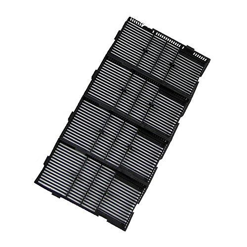 20 Teile Schwarz Plastik Aquarium Boden Filter + Luft Schlauch + Rohr