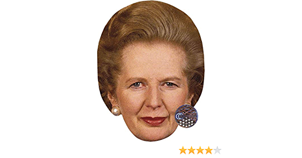 Flat Card Face Celebrity Mask Young Margaret Thatcher