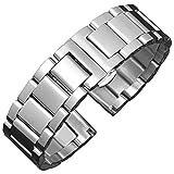 BONSTRAP Damen Uhrenarmband Edelstahl 16mm Silber Metall Armband 16mm