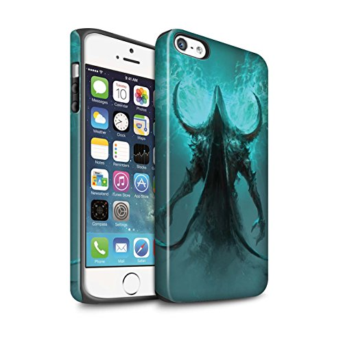 Offiziell Chris Cold Hülle / Matte Harten Stoßfest Case für Apple iPhone 5/5S / Pack 10pcs Muster / Dunkle Kunst Dämon Kollektion Getarnte Teufel