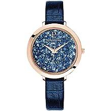 Pierre Lannier - 097M966 - Elegance Cristal - Montre Femme - Quartz Analogique - Cadran Bleu - Bracelet Cuir Bleu