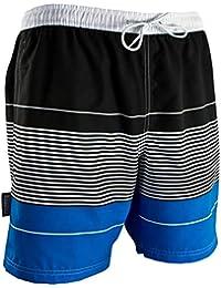 GUGGEN Mountain Maillot de Bain pour Homme de materiau High-Tech Slip Shorts Raye Print*