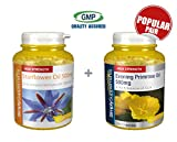 SimplySupplements Starflower Oil 500mg 360 Capsules + Super Strength Evening Primrose Oil 1000mg 360 Capsules (1 Year Supply) |Healthy heart & Balanced homone levels