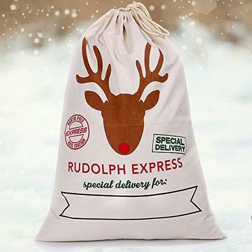 Grand sac de Père Noël en toile de jute vintage en toile de jute Jute Cadeau Sacs cadeaux de Noël Décorations de Noël