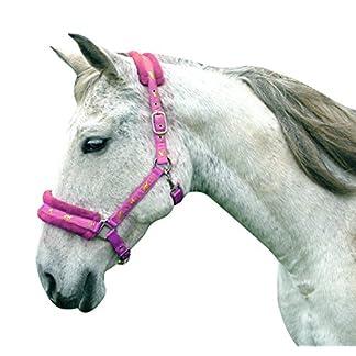 Headcollar Sparkly Furry Fluffy Pretty Horse Pony Head collar (Small Pony, Brown/Biege) 20