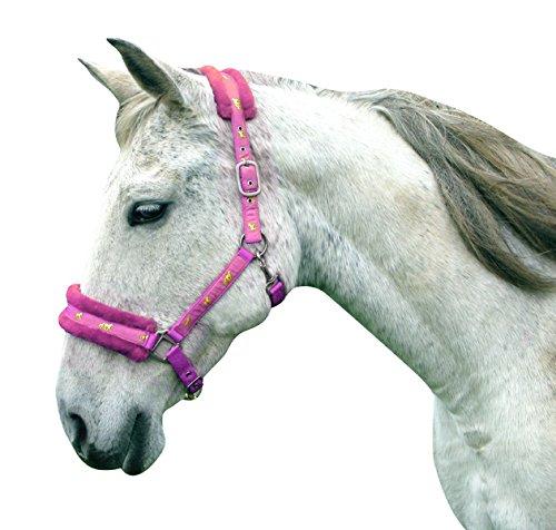 Headcollar Sparkly Furry Fluffy Pretty Horse Pony Head collar (Small Pony, Brown/Biege) 1