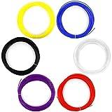 AFUNTA 3D-pen-ABS-6 - Material de filamento para impresora 3D (6 piezas, 1.75 mm, 20 m/50 G), multicolores