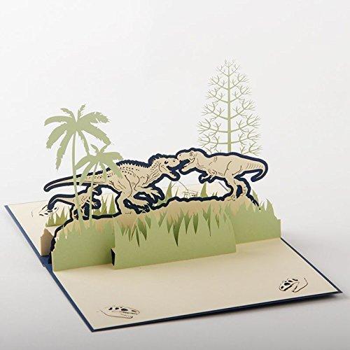 uniqueplus Dinosaurier Jurassic Park 3D Pop up Grußkarte Geschenk Karten für Geburtstag oder jeden Anlass