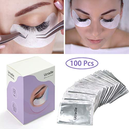 100 Paare Wimpernverlängerung Augenpads - Lint Free Under Eye Gel Pads für Eyelash Extensions, Rutschfeste und Lint Free Eyelash Patches Halten Gut auf Haut