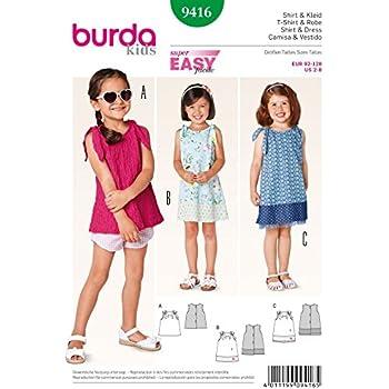 New Look Schnittmuster Nr. 6749 Kinder Kleider, Gr 3, 4, 5, 6, 7, 8 ...