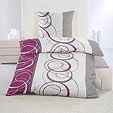 dicht gewebte Baumwolle Feinbiber Winter Bettwäsche 135x200 + 80x80 Kissenbezug Warm Biber, Design - Motiv:Design 1, Größe:135 x 200 cm