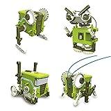 Vatos 4 in 1 Transformations-Roboter Baukasten zum Selbstbau. Wissenschaftliches Spielzeug für Spaß am Lernen konstruktiven Bauens. Ein kreatives Geschenk für Kinder.