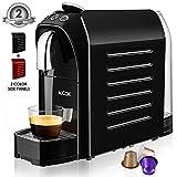 Aicok Macchina Caffè per Capsule Compatibili Nespresso, 20 Bar, 25s Riscaldamento Veloce con Sistema di Risparmio Energetico, Pulsanti Programmabili per Espresso e Lungo, 0,7L, 1255W, Rosso & Nero