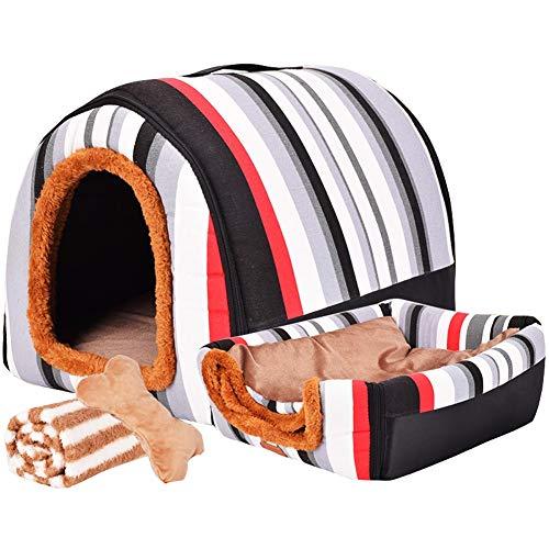 LVAB Cama Mascotas Perro Grande Casa Perro Invierno