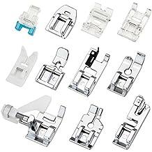 JTDEAL 11 Piezas Kit Prensatelas Universal, Multifuncional Pie de maquina de coser, Aplicar a todas las marcas, Alfa/Singer/Carrefour ect