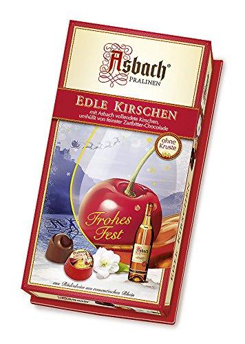 Asbach-Pralinen Kirschen-Packung mit Weihnachts-Aufkleber, 1er Pack (1 x 200 g)