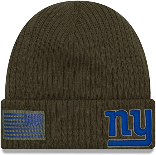 New Era New York Giants Beanie On Field 2018 Salute to Service Knit Green - One-Size - New Giants-stoff York