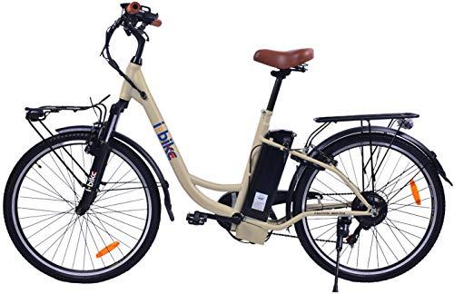 i-Bike City Easy ITA99 Crema Unisex Adulto, Lucido, 180 x 90 x 32 cm