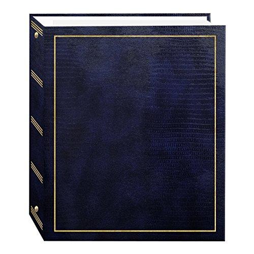 Pioneer Fotoalbum, 100 Seiten, Kunstleder mit goldfarbenem Einband, magnetisch, 3-Ring-Album Marineblau -