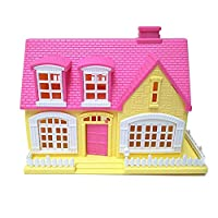 Homeofying Lovely Window Door Openable Mini 3D Toy House Cottage Doll Accessories Christmas Gift For Kids