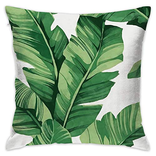 FPDecor Funda de Almohada, Square Cushion Covers Banana Tree Leaves Throw Pillow Covers Cases Super...