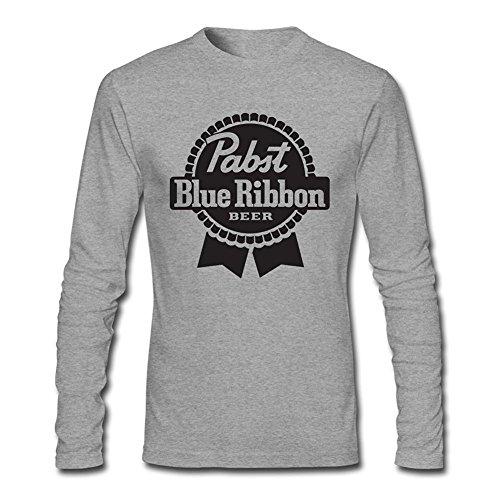 Herren's Pabst Blue Ribbon Long Sleeve T-shirt Small