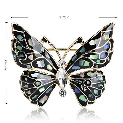 Uioxaie spilla moda spilla a farfalla blu accessori per abbigliamento spille in oro abalone spille per insetti spille per gioielli per abito spille da abito da gioielli e accessori