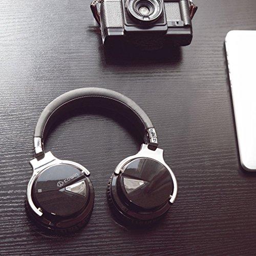 COWCOWIN E7 Kabellose Bluetooth Kopfhörer Over Ear Wireless Headphones mit Mikrofon, schwarz - 9