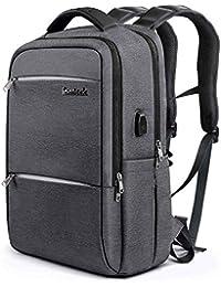 Inateck Unisex Multiuso Antifurto Zaino per laptop da 15-15,6 pollici anti borseggio anti graffio con presa ricarica USB e anti-spruzzo d'acqua con la cover anti-pioggia per La Scuola, Business