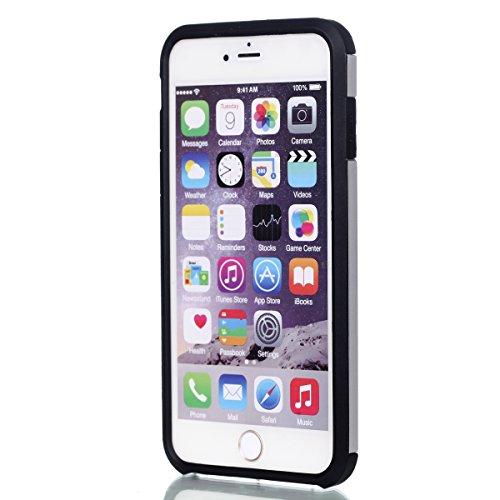Ukayfe Custodia Morbido per iPhone 6/6S plus,2 in 1 Ultra Slim Casa per iPhone 6/6S plus Cover in Gel TPU Silicone Case Morbida Soft Trasparente e Cristallo Protettiva Custodia Brillantini Resistente  Bianco