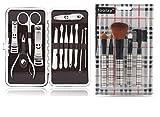 Foolzy MS-JMD-COM 17 in 1 Manicure Pedicure Make Up Brush Set Kit