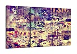 Impression sur toile - 3 Parties - 105x70cm - Image sur toile - 3598 - plusieurs éléments - prete a suspendre - encadrée - Tableaux pour la mur - motif moderne - pret a accrocher - CE105x70-3598