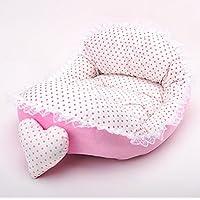 JinZhiCheng Cama de encaje cálido para mascotas, cama de princesa, cama suave, cama