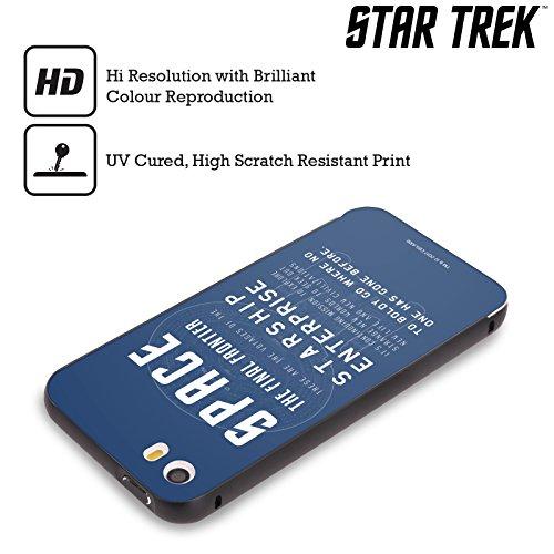 Ufficiale Star Trek Delta Completo Vascelli Della Linea Nero Cover Contorno con Bumper in Alluminio per Apple iPhone 5 / 5s / SE USS Enterprise NCC-1701-D