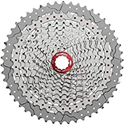 SunRace caja de pedalier MTB Wide Ratio MX8 11 velocidad 11 - 50T plata (Cassette MTB)/Wide Ratio MTB Cassette Sprocket MX8 11 Speed 11 - 50T Black (Sprockets MTB)