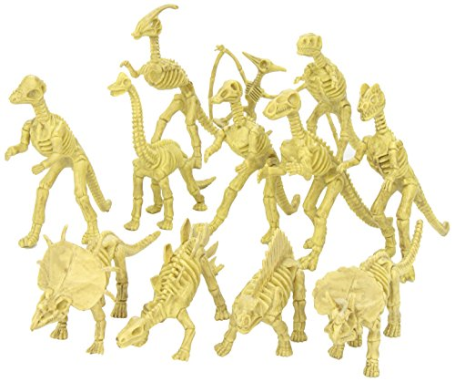 Rhode Island Novelty Verschiedene Dinosaurier Fossil Skelett 15,2-17,8cm Zahlen, 12-teilig