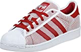 adidas Herren Superstar Adicolor s76502 Trainer, weiß/rot, Größe UK 7,5