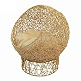 Bonwg Rattan Hollow Cat Wurf Kennel Pet Nest Cat House Cat Klettergerüst