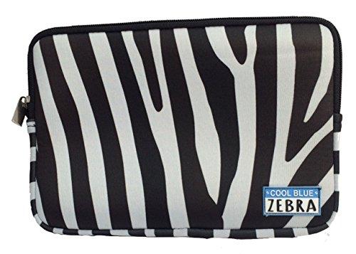 Cool Blue Zebra kleine Neopren-Abdeckung, Kosmetiktasche, Federmäppchen oder Schutzhülle für Tablet/iPad Mini (Streifen Von Zebras) -
