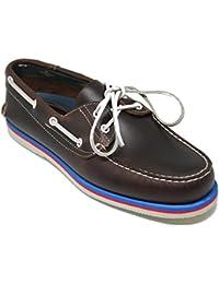 John Coleman Zapato Náutico de Verano EN Piel de Becerro Engrasado Color  Marrón 524fa8ec0a94