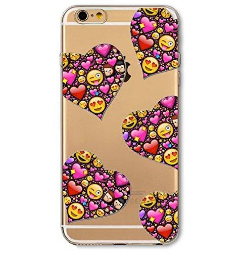 Coque en Gel silicone souple pour iphone 5 , 5S et 5SE , modele smiley emoticon , singe rose , noeud rose smileys dans cœur