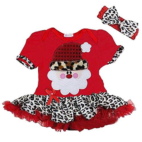 KINDOYO Baby Mädchen Weihnachten Spitze Kleid Kleinkind Prinzessin Fancy Party Kostüm Spielanzug Tanz Rock Santa New Year Kleid Outfits Kinder Gesetzt Set , (70 Kostüme Fancy Und 80 Dress)
