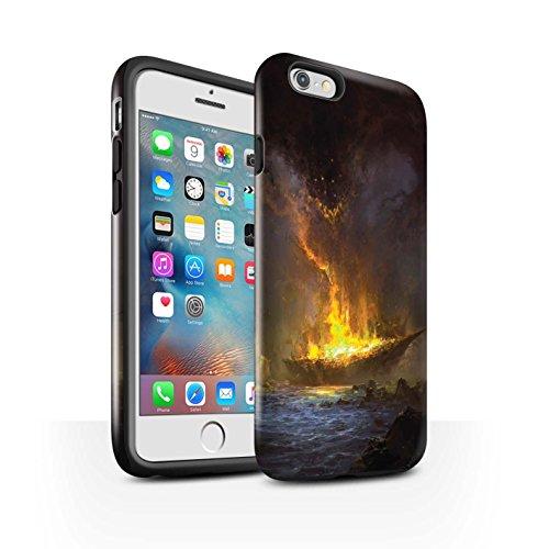 Offiziell Chris Cold Hülle / Glanz Harten Stoßfest Case für Apple iPhone 6S+/Plus / Tränen der Eva Muster / Gefallene Erde Kollektion Schiffswrack