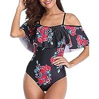 Traje de baño una Pieza Mujer POLP Chaleco Tallas Grandes Ropa de baño Fiesta de Bikini de Flores Bohemia Bañadores de Mujer Natacion Verano Playa