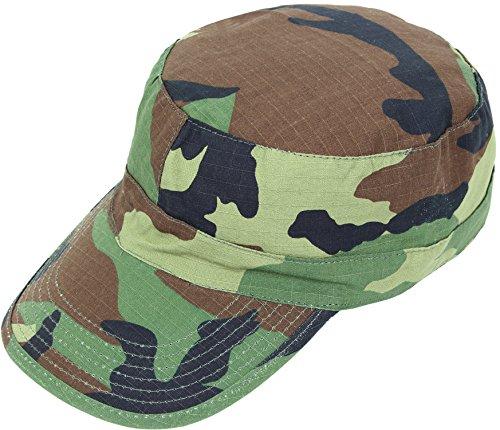US Feldmütze BDU Cap RipStop Army Mütze L,Woodland