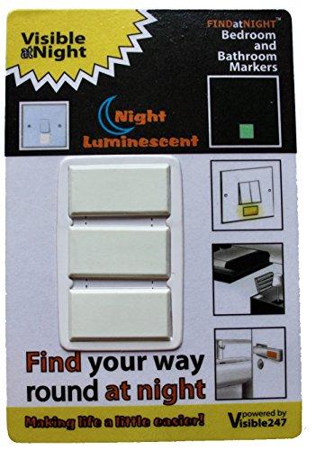 findatnight Glowing Schlafzimmer und Bad Marker; High Performance Händen Marker mit Selbstklebende...